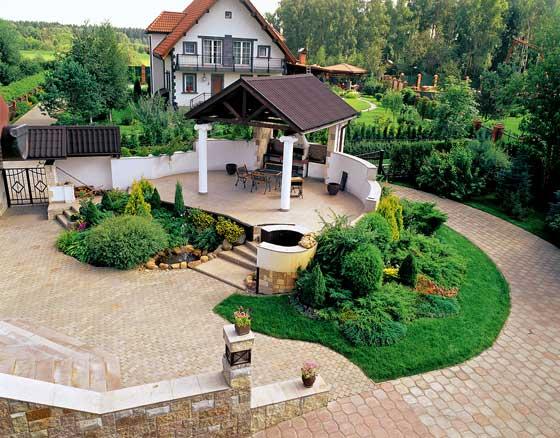 Благоустройство территории частного дома